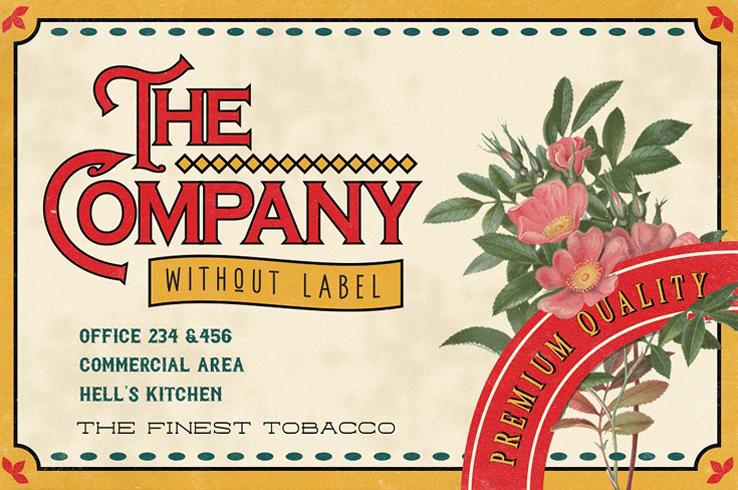 Euphoria Font Family Retro Label