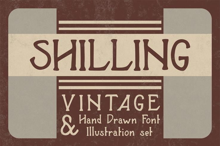 Shilling Vintage Advertising Font