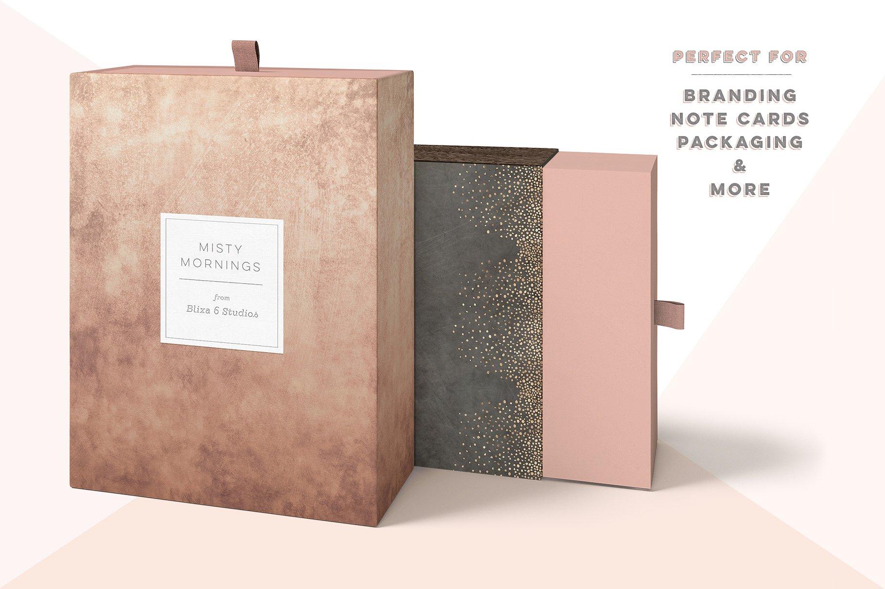 Branding note cards packaging