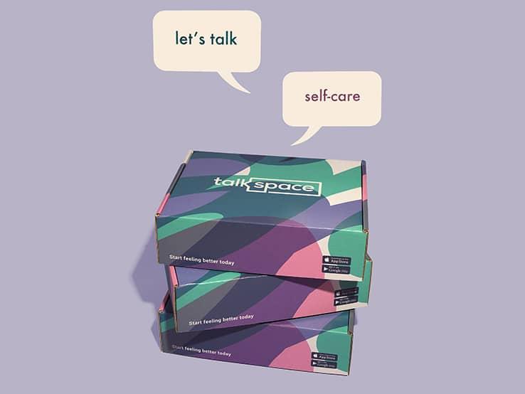 Custom packaging by Talkspace