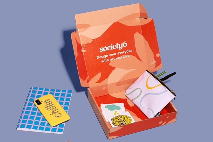 Society 6 custom gift box